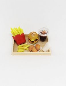 miniature burger meal